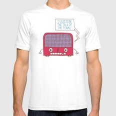 Radio Static SMALL White Mens Fitted Tee