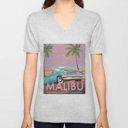 Malibu Los Angeles California Unisex V-Neck