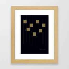 Make it rain bricks Framed Art Print
