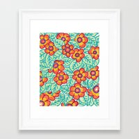 matisse Framed Art Prints featuring Matisse Colours  by Lucy Auge