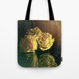 Yellow Vintage Roses Tote Bag