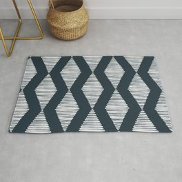 Acoustic Wave Navy Rug