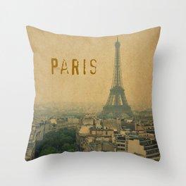 Paris, je t'aime... Throw Pillow