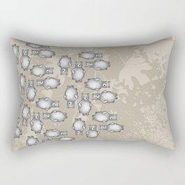 grizzly bear in foliage Rectangular Pillow