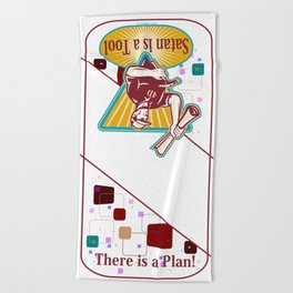 Satan IS a Tool Beach Towel