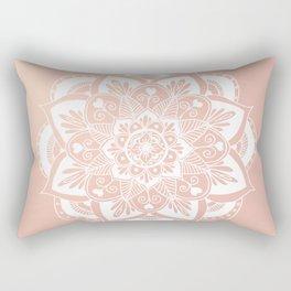 Flower Mandala on Rose Gold Rectangular Pillow