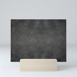 Black Faux Concrete Stone Texture Industrial Art Mini Art Print