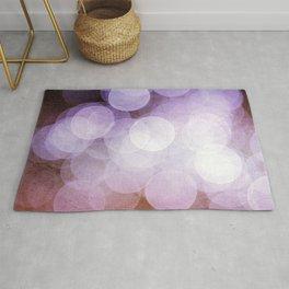 Purple and Pink Bokeh Dots Pattern Rug