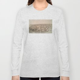 Vintage Pictorial Map of Charleston SC (1851) Long Sleeve T-shirt