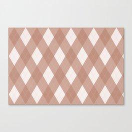 Sherwin Williams Canyon Clay Argyle Plaid, Diamond Pattern Canvas Print