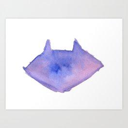 Bloo Raccoo Art Print