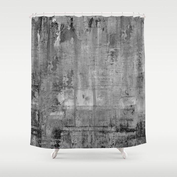 GREY MODERN INDUSTRIAL RUSTIC Shower Curtain