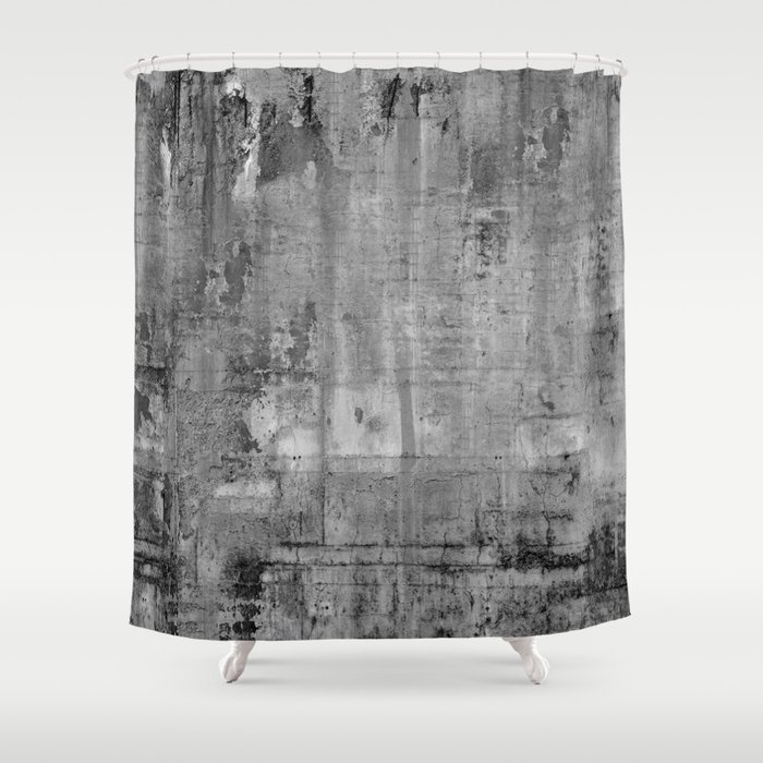 GREY MODERN INDUSTRIAL RUSTIC Shower Curtain By