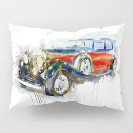 Vintage Automobile Pillow Sham