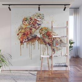 Three Cute Owls Wall Mural