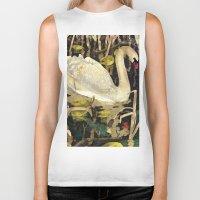swan queen Biker Tanks featuring Swan by Lara Paulussen
