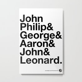American Composers v2 Metal Print