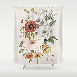 Wildflower Bouquet Shower Curtain