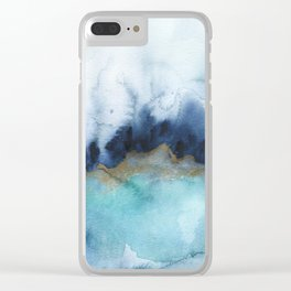 Mystic abstract watercolor Clear iPhone Case