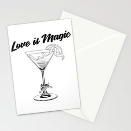 Love Is Magic Wedding Rings LGBT - COSMO GLASS Stationery Cards