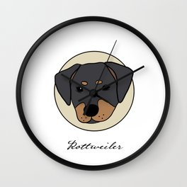 I love Rottweilers Wall Clock
