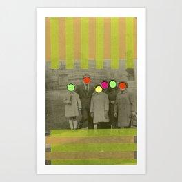 Fluo Family Art Print