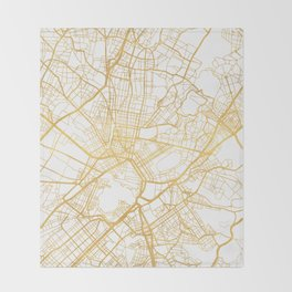ATHENS GREECE CITY STREET MAP ART Throw Blanket