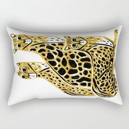 Gold Cheetahs Rectangular Pillow