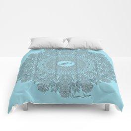 Tribal Hammerhead Shark Mandala Comforters