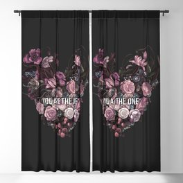 You Are The One // Floral Valentine's Heart Blackout Curtain