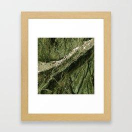 Marble Rain Forest Green Framed Art Print
