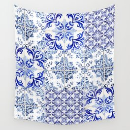 Azulejo VIII - Portuguese hand painted tiles Wall Tapestry