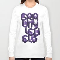 deadmau5 Long Sleeve T-shirts featuring Gravity Levels - Geometry by Sitchko Igor