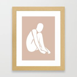tan abstract nude 3 Framed Art Print