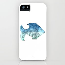 Whimsical Doodle Fish iPhone Case