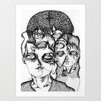 christian schloe Art Prints featuring christian by Valeria Pomidoro