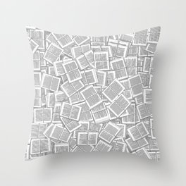Literary Overload Throw Pillow