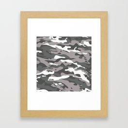 Gray Camo Framed Art Print