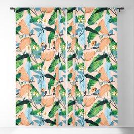 Summer Botanicals #illustration #pattern Blackout Curtain