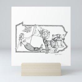 Pennsylvania Mermaid Mini Art Print