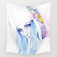 russian Wall Tapestries featuring Russian winter by Cora-Tiana