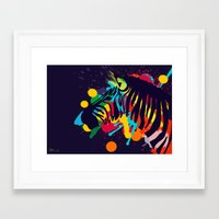 zebra Framed Art Prints featuring ZEBRA by mark ashkenazi