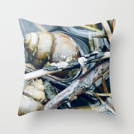 Snails and Twigs Photograph Throw Pillow