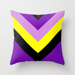 V-lines Throw Pillow