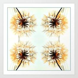 dandelions mosaic Art Print