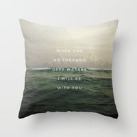 pocketfuel Throw Pillows featuring DEEP WATERS by Pocket Fuel
