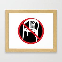 F*ck tha extruded chair! Framed Art Print
