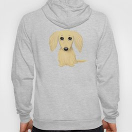 Longhaired Cream Dachshund Hoody