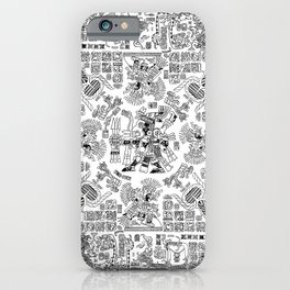 Mayan Spring B&W iPhone Case