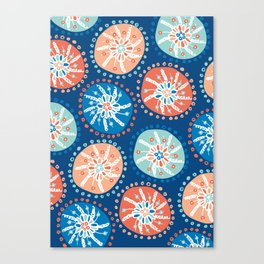 Flower Puffs Canvas Print